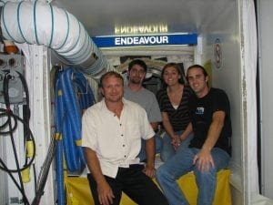 Ray & Seth in OV105 Endeavour white room