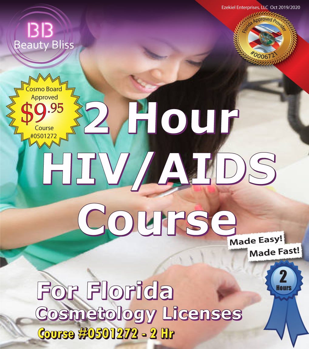 2 Hour HIV/AIDs Continuing Education Course Cover for Florida Cosmetology Licenses