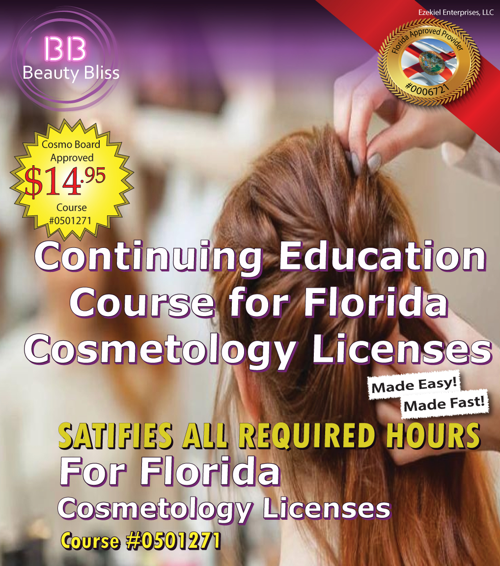 10 Hour Continuing Education Course Cover for Florida Cosmetology Licenses
